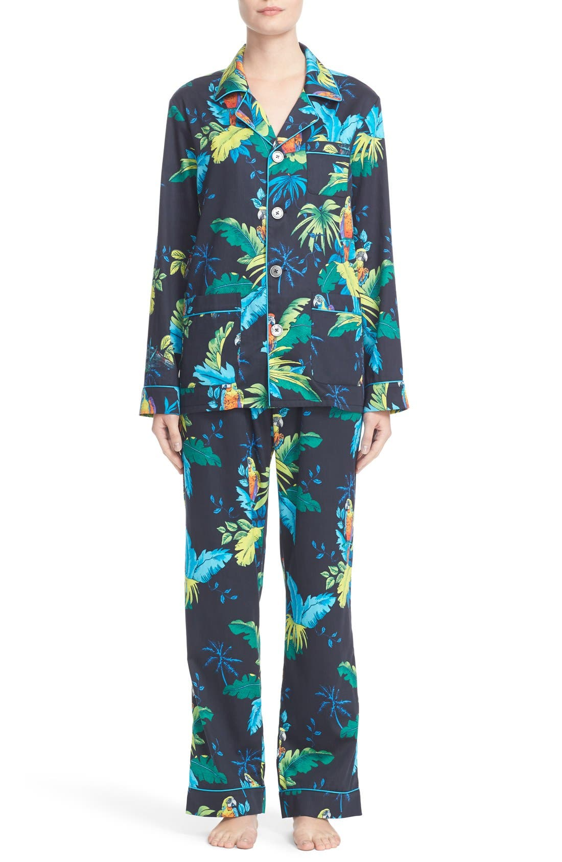 MARC JACOBS Parrot Print Cotton Pajamas