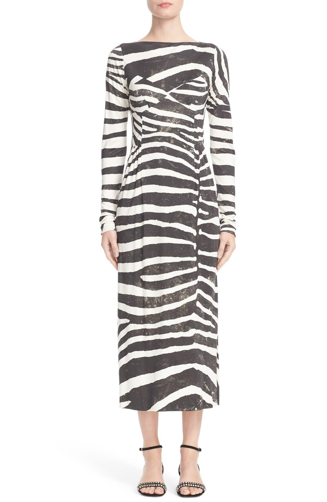 MARC JACOBS Zebra Print Jersey Dress