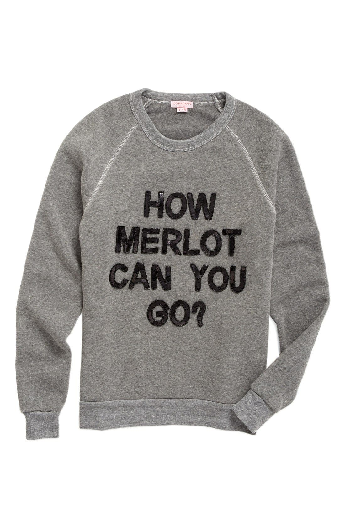 Main Image - Bow & Drape How Merlot Can You Go Sweatshirt