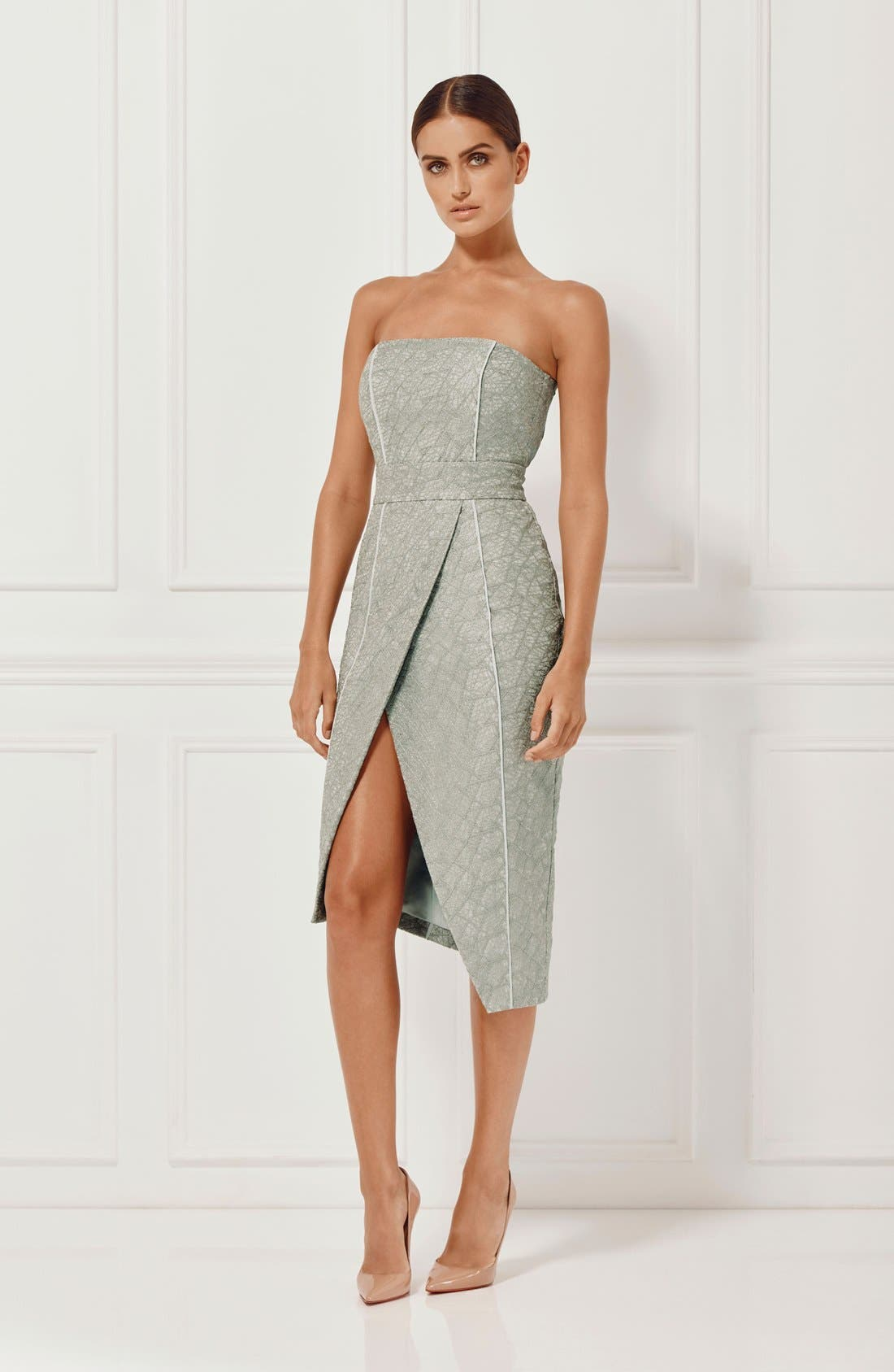 Alternate Image 7  - Misha Collection 'Olivia' Convertible Embroidered Asymmetrical Dress