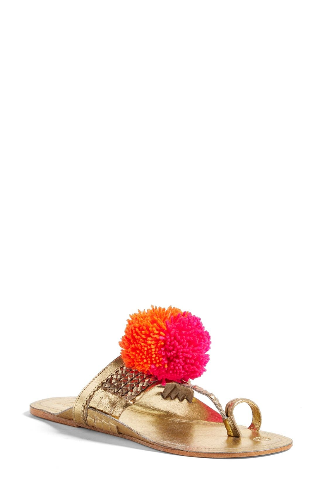 Figue Pompom Thong Sandal (Women)