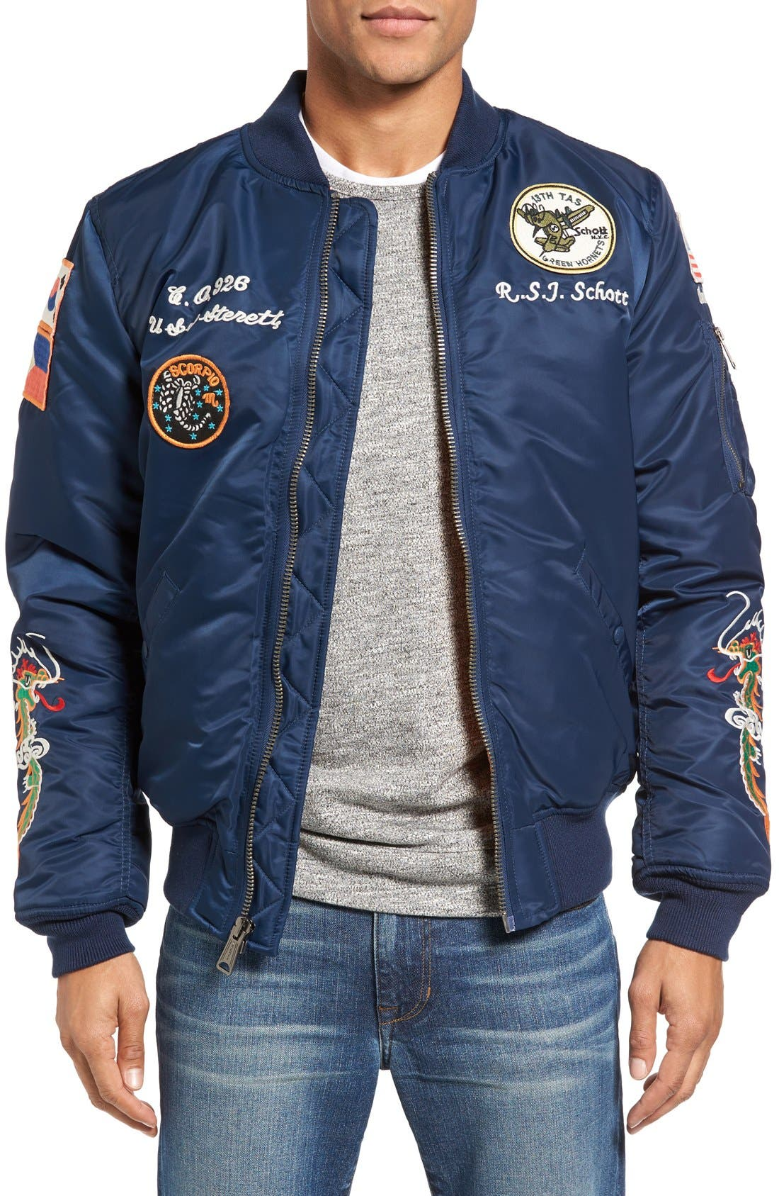 SCHOTT NYC Souvenir MA-1 Flight Jacket