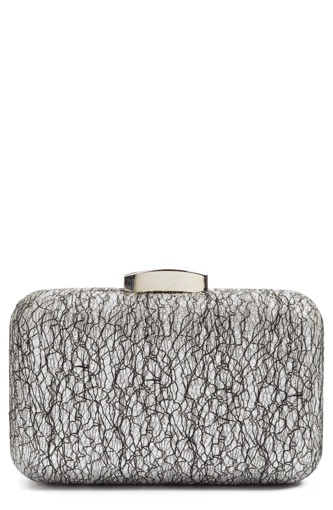 Glint Abstract Lace Clutch