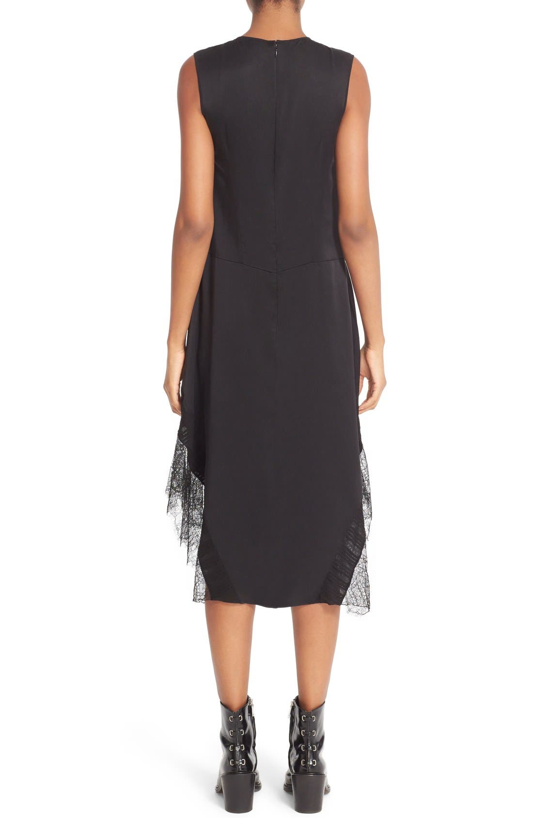 Alternate Image 2  - Belstaff Jasmine Lace Inset Silk Midi Dress