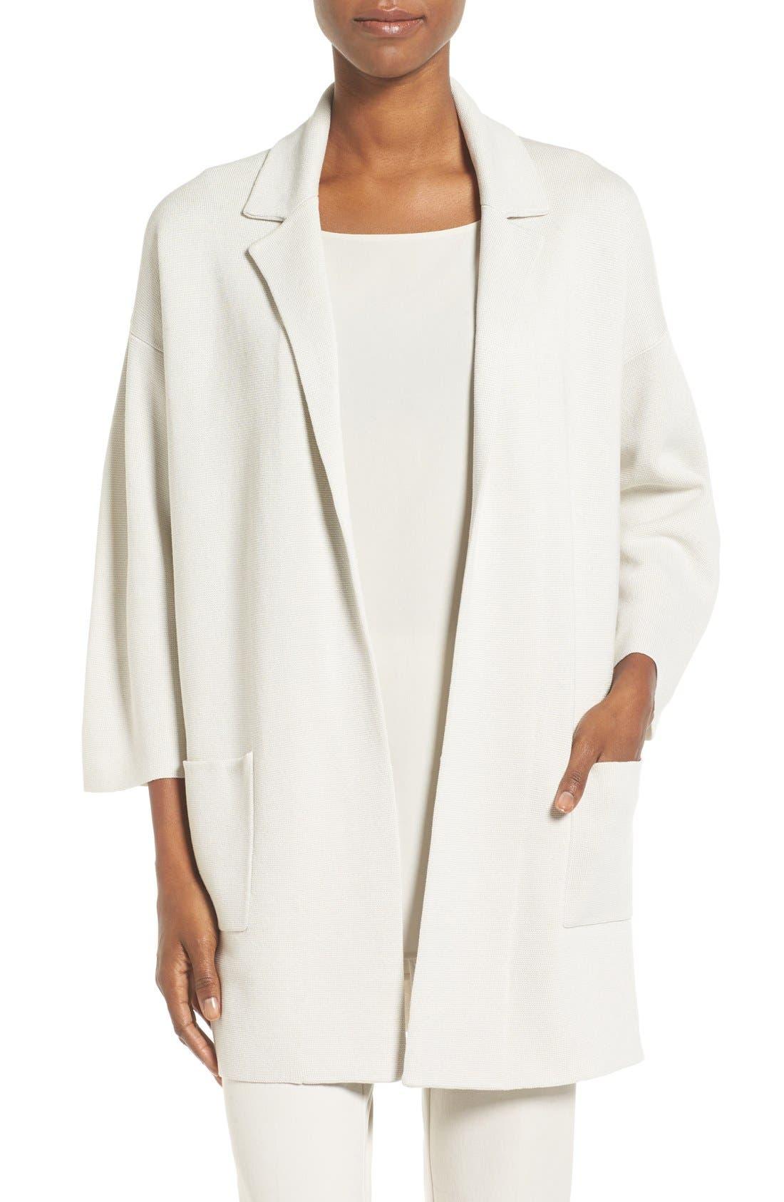 Alternate Image 1 Selected - Eileen Fisher Silk & Organic Cotton Jacket