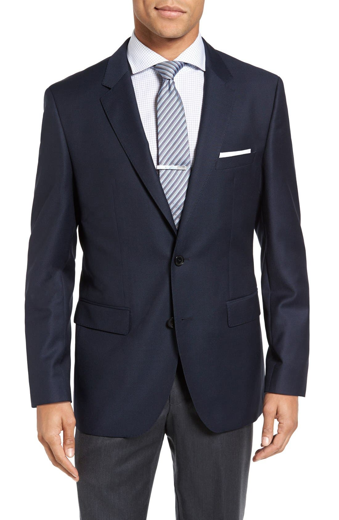 Alternate Image 1 Selected - BOSS 'James' Trim Fit Wool Blazer