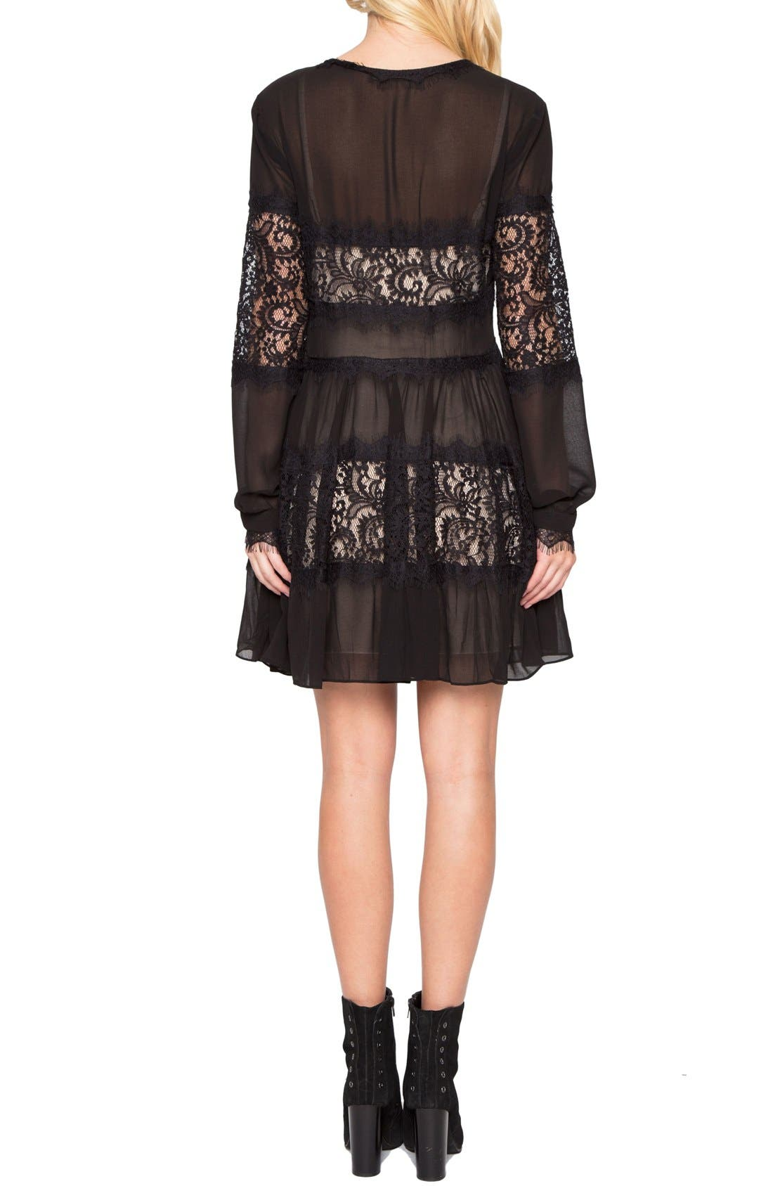 Alternate Image 2  - Willow & Clay Lace Inset Fit & Flare Dress