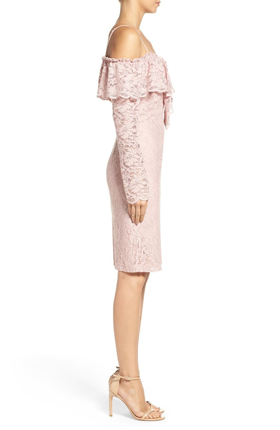 Alternate Image 3  - Bardot Allessandra Lace Sheath Dress