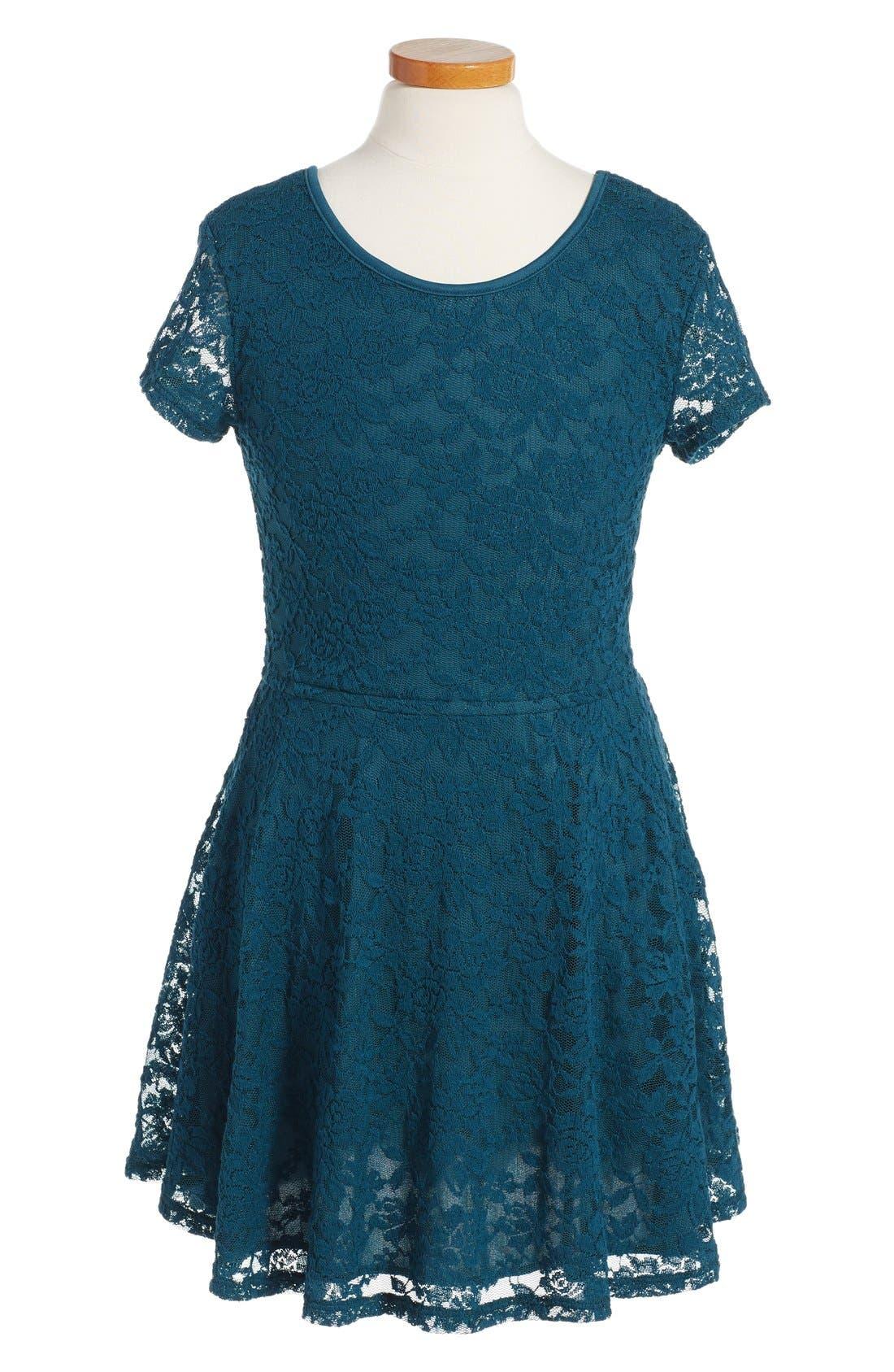 Main Image - Ruby & Bloom 'Jessamine' Lace Dress (Little Girls & Big Girls)