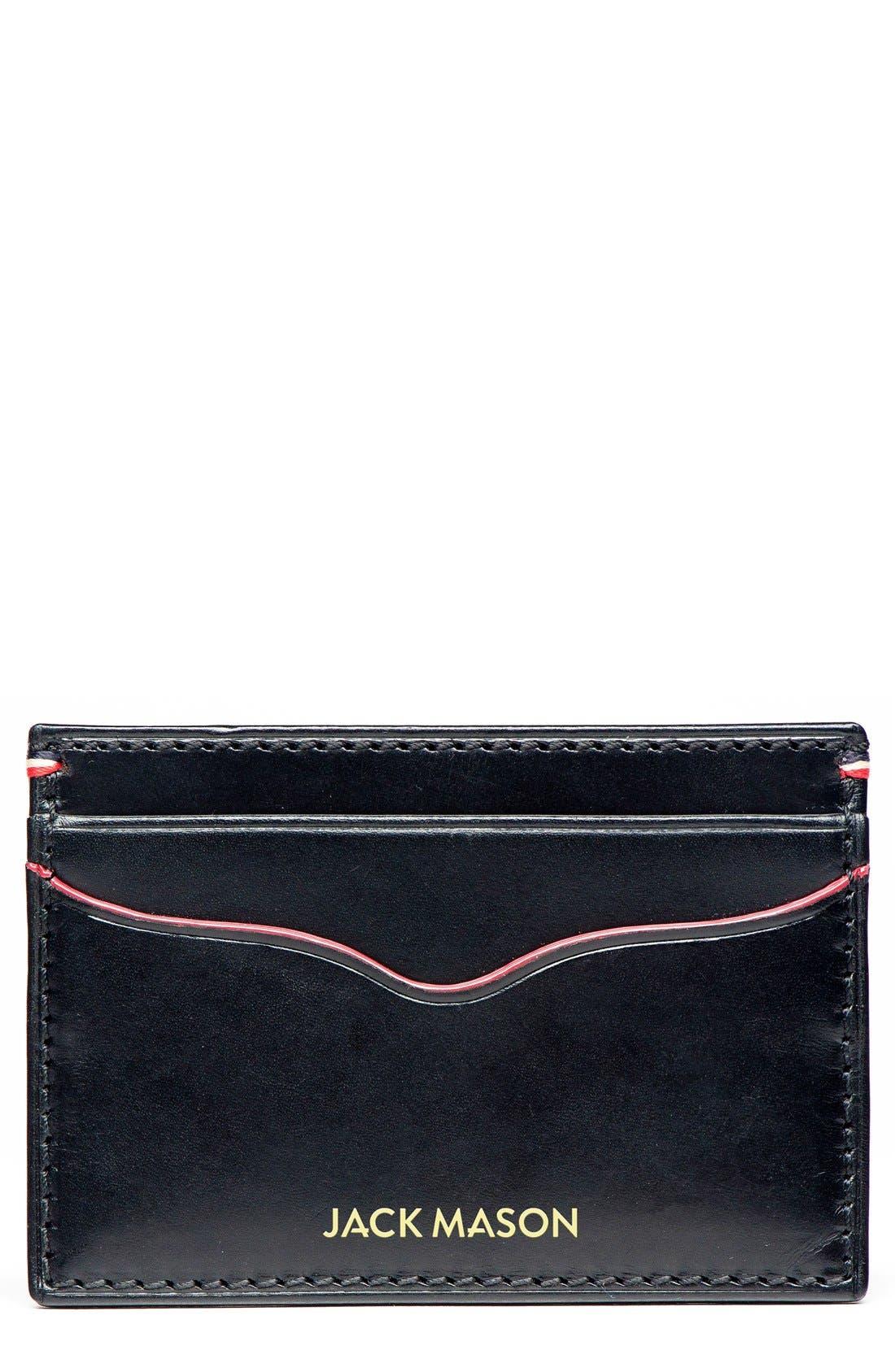 Alternate Image 1 Selected - Jack Mason Vacchetta Lux Leather Card Case