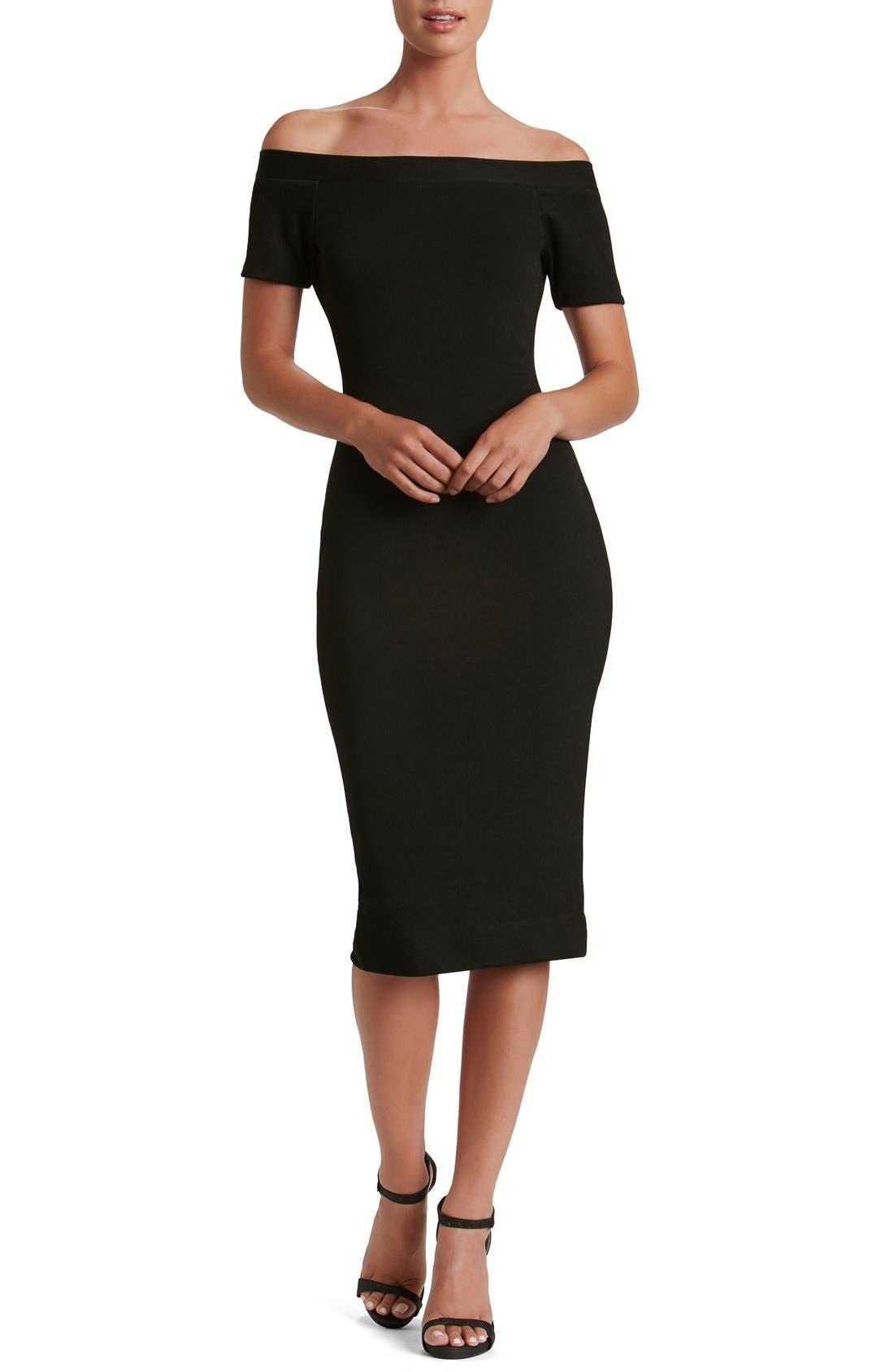 Alternate Image 1 Selected - Dress the Population Marissa Body-Con Midi Dress