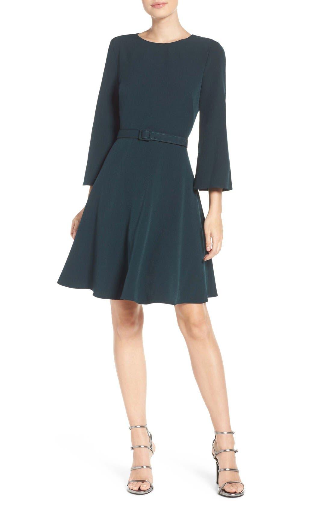 Alternate Image 4  - Eliza J Crepe Fit & Flare Dress (Regular & Petite)