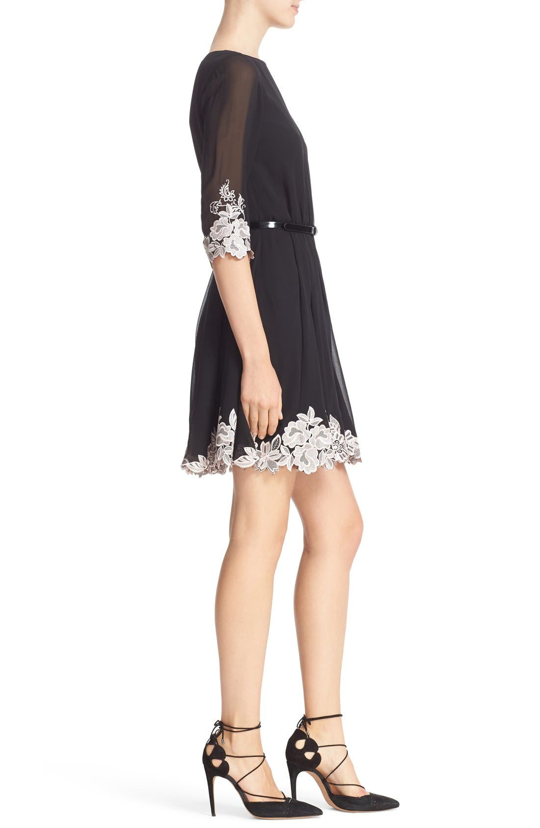 Alternate Image 3  - Ted Baker London Feay Belted Lace Embellished Dress