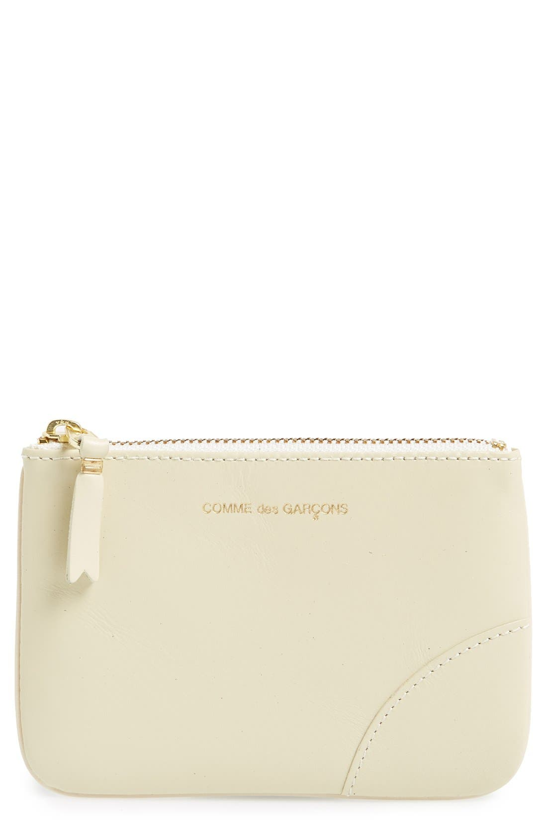 COMME DES GARÇONS Small Classic Leather Zip-Up Pouch
