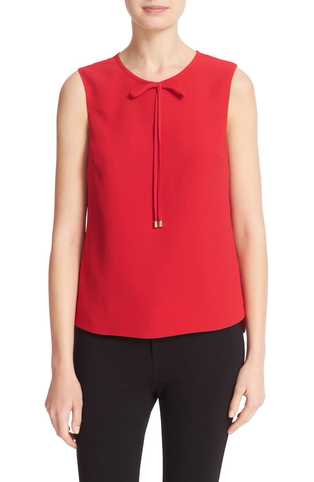 Main Image - Ted Baker London Natalle Bow Detail Crepe Top