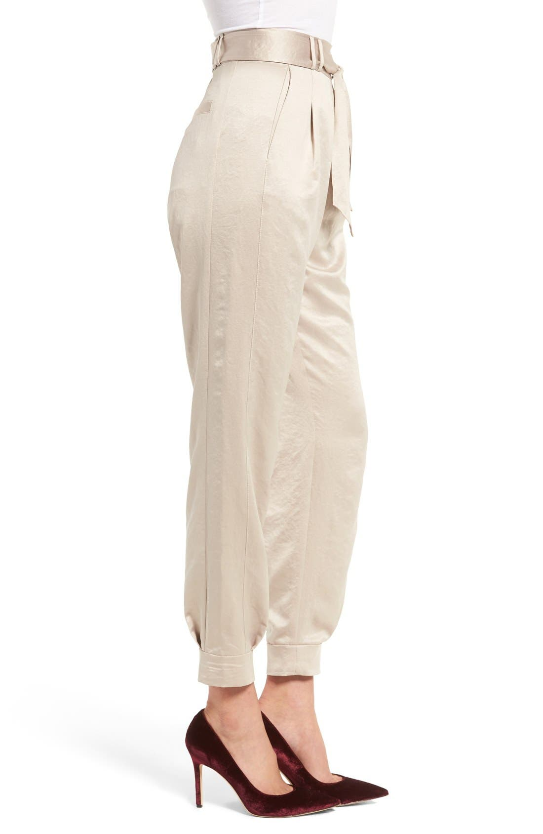 Alternate Image 4  - Leith Tie Waist Satin Pants