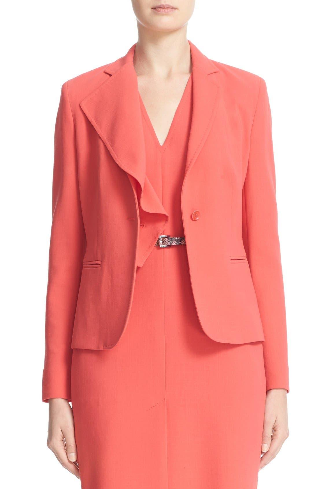 MAX MARA Dardano Wool Crepe Jacket with Removable