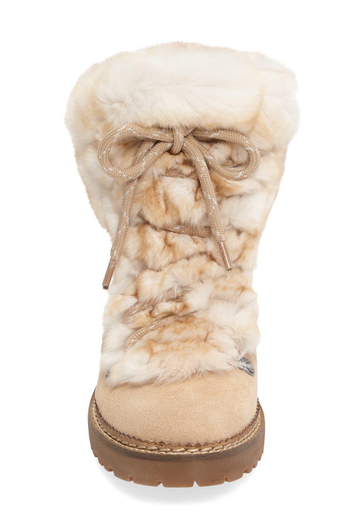 Alternate Image 3  - Arturo Chiang 'Philippa' Genuine Rabbit Fur Hiking Boot (Women)