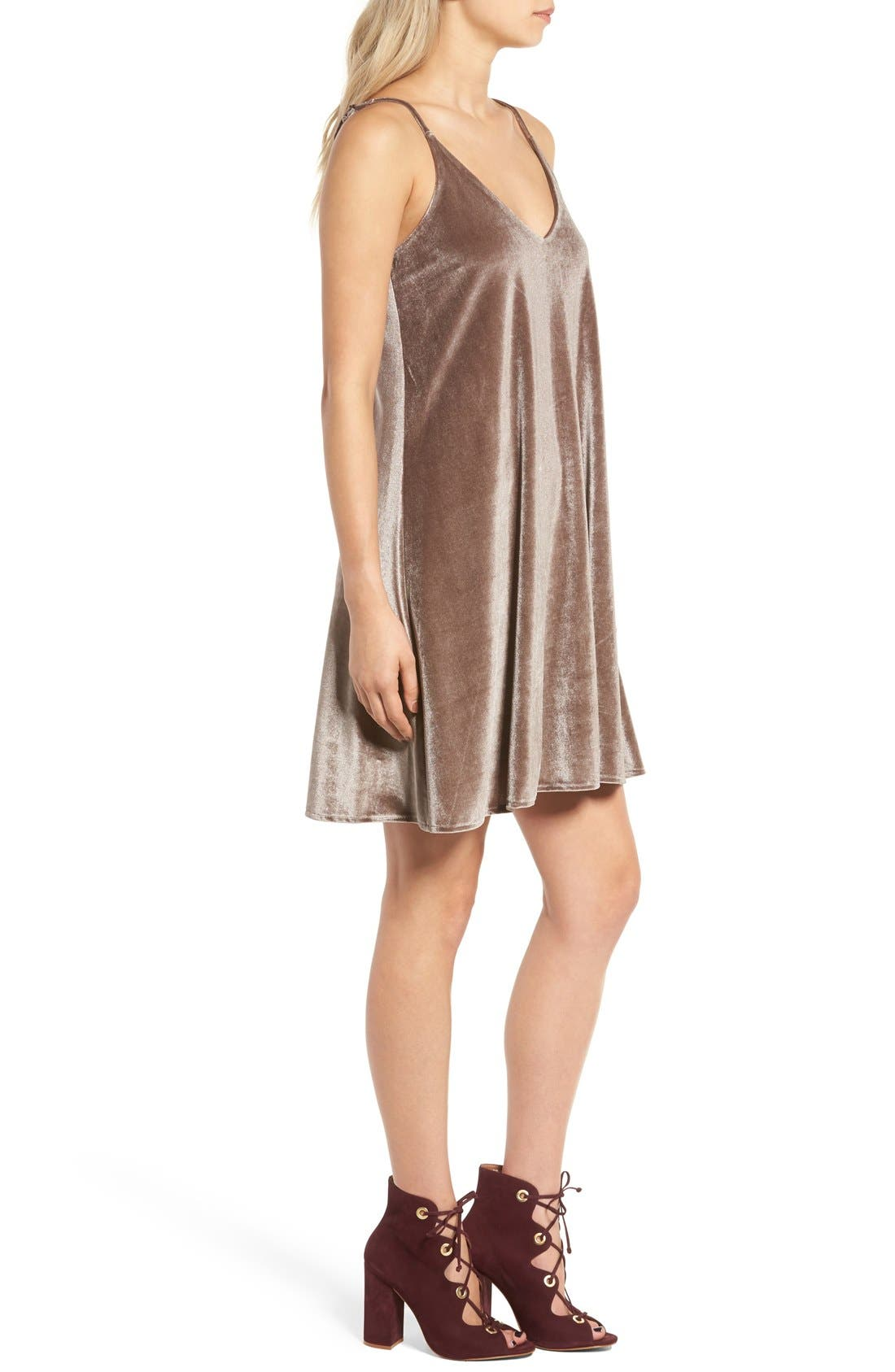Alternate Image 3  - Ten Sixty Sherman Velvet Camisole Dress