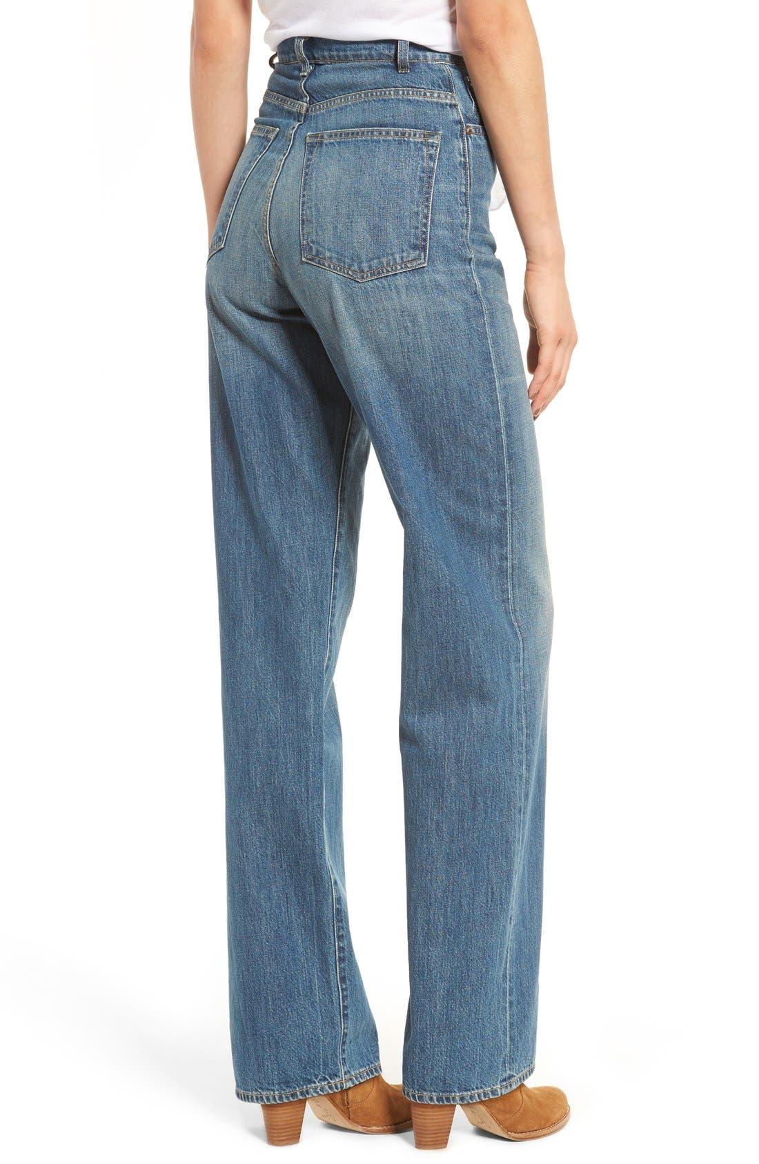 Alternate Image 2  - imogene + willie High Waist Wide Leg Jeans (Abilene)