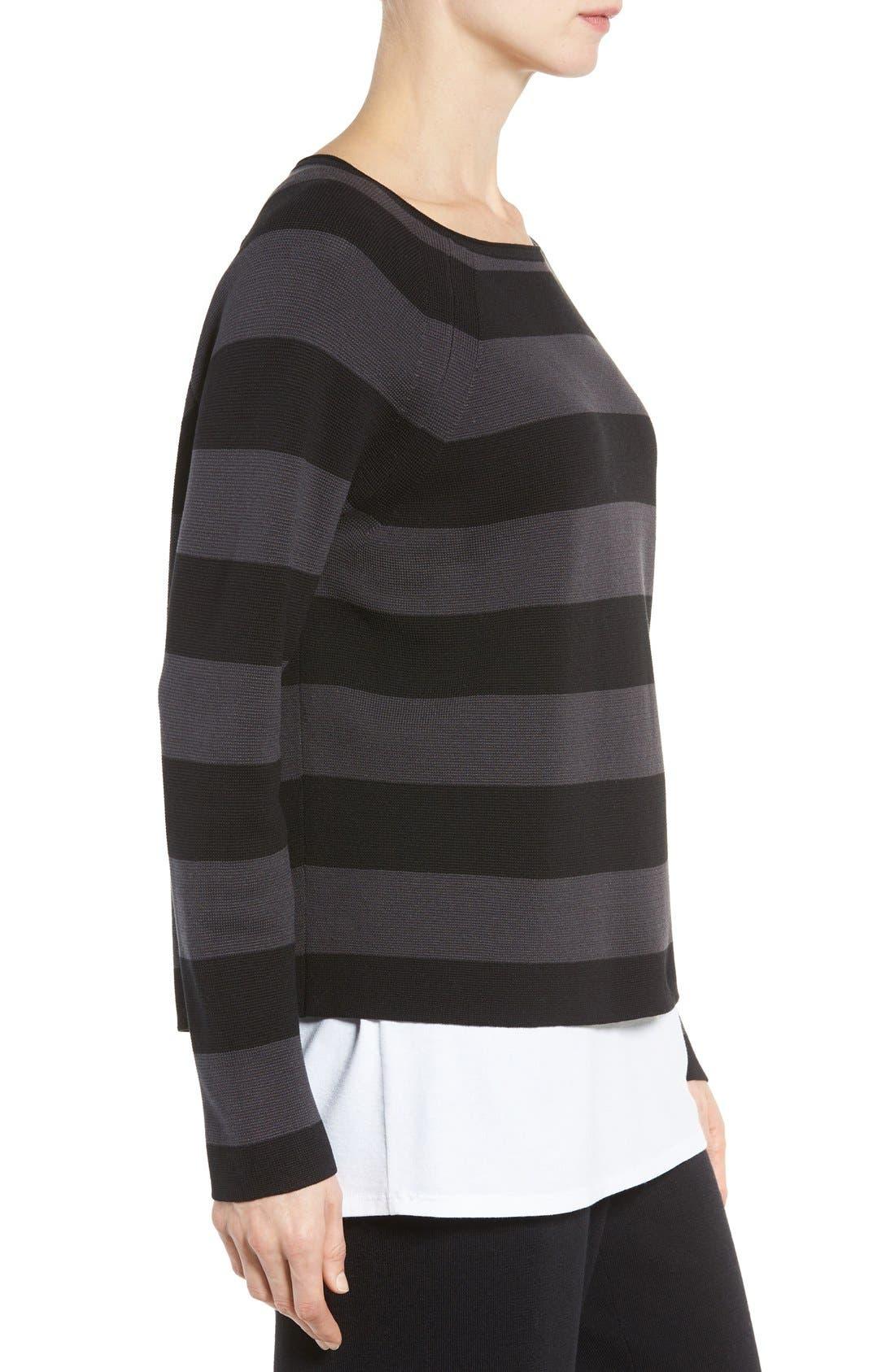 Alternate Image 4  - Eileen Fisher Crop Silk & Organic Cotton Top (Regular & Petite)