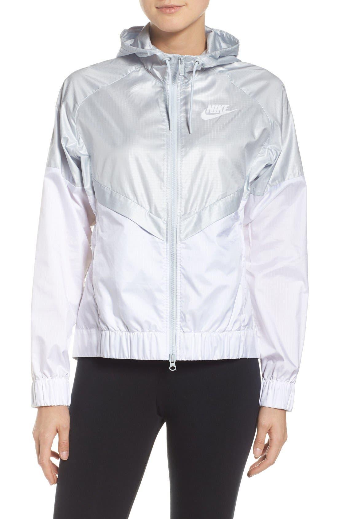 Alternate Image 1 Selected - Nike 'Windrunner' Hooded Windbreaker