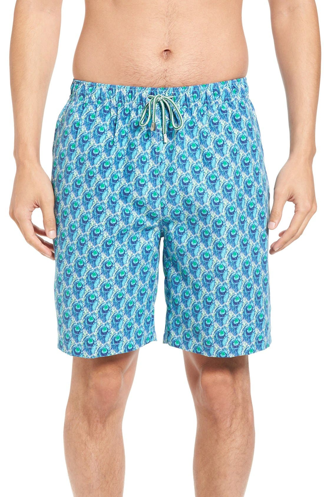 Peter Millar Peacock Repeat Swim Trunks