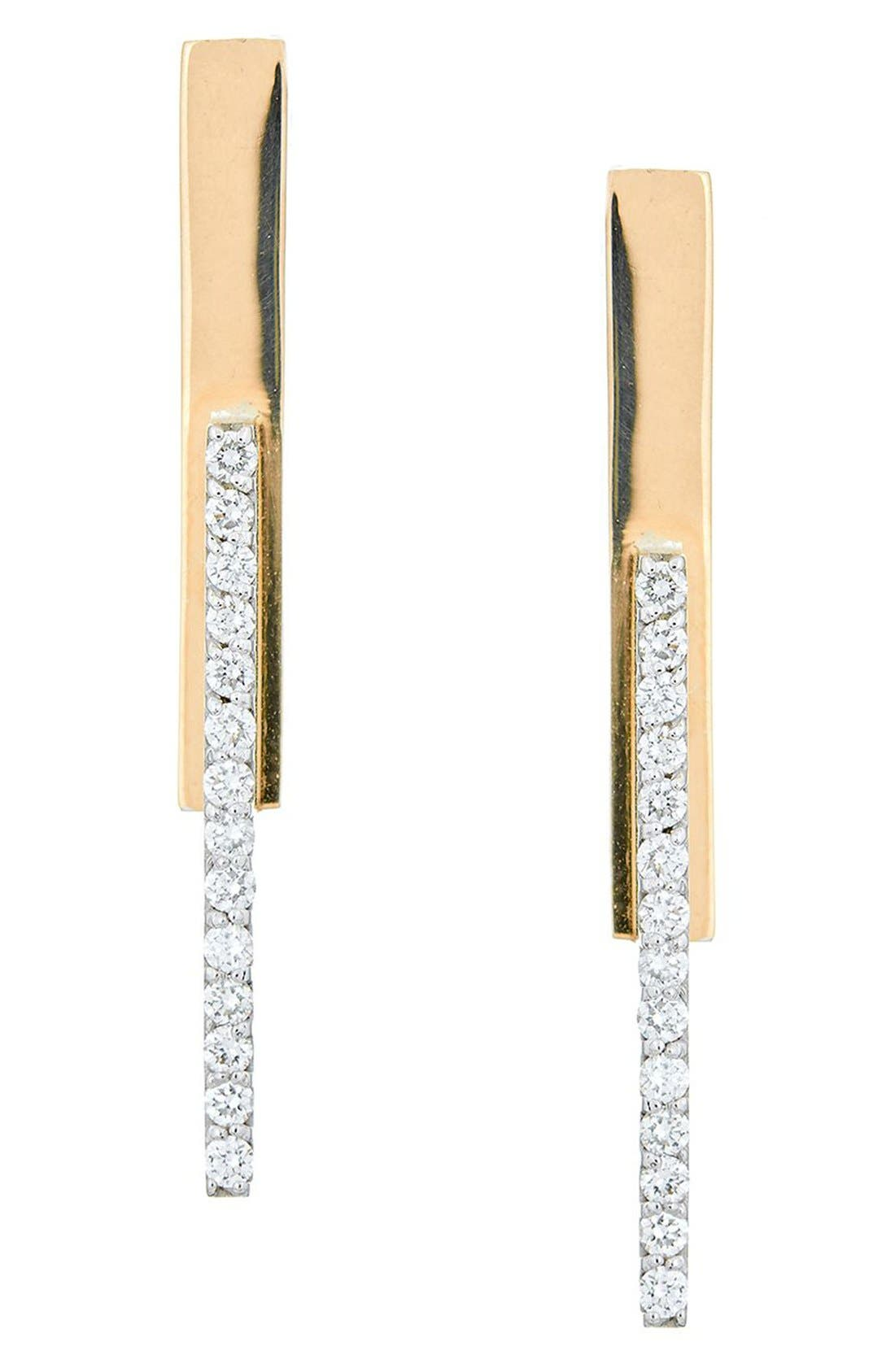 LANA JEWELRY Flawless Diamond Stacked Bar Earrings