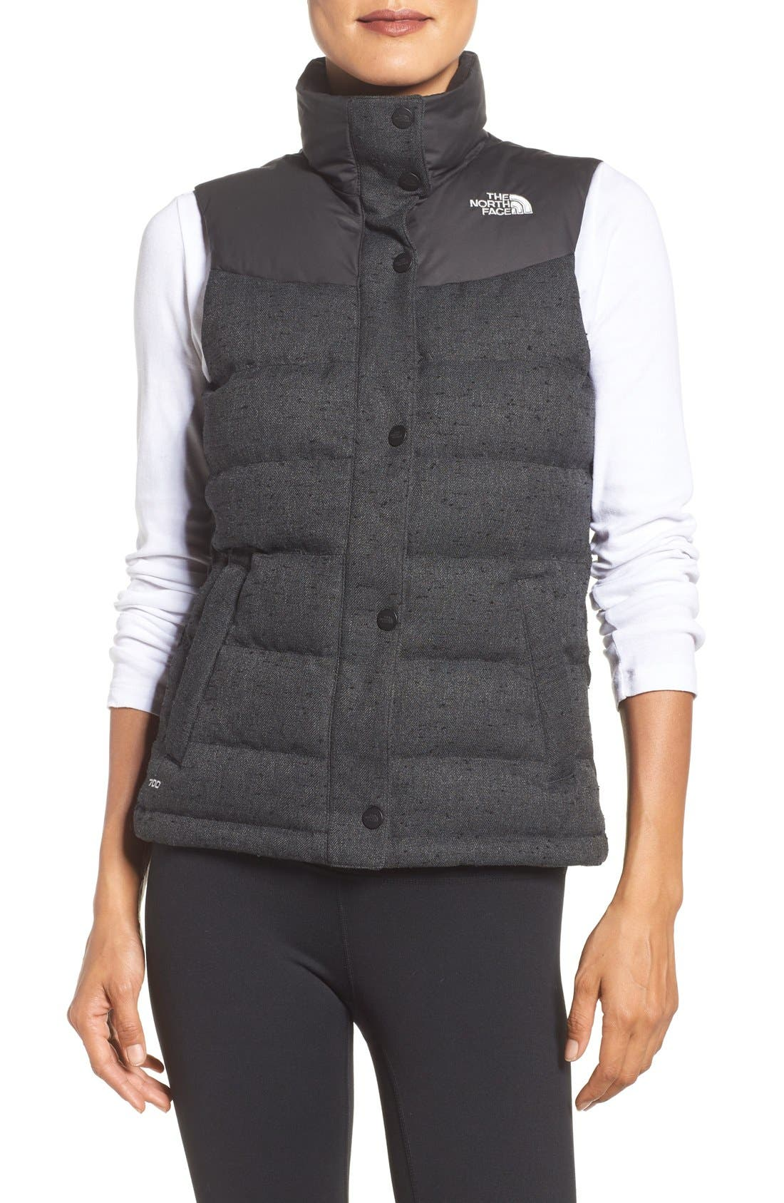 Alternate Image 1 Selected - The North Face 'Nuptse Tweed' Water Resistant Down Vest (Nordstrom Exclusive)