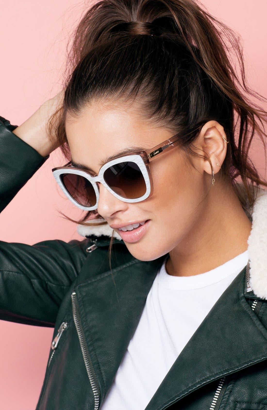 Alternate Image 3  - Sonix Lafayette 53mm Gradient Cat Eye Sunglasses