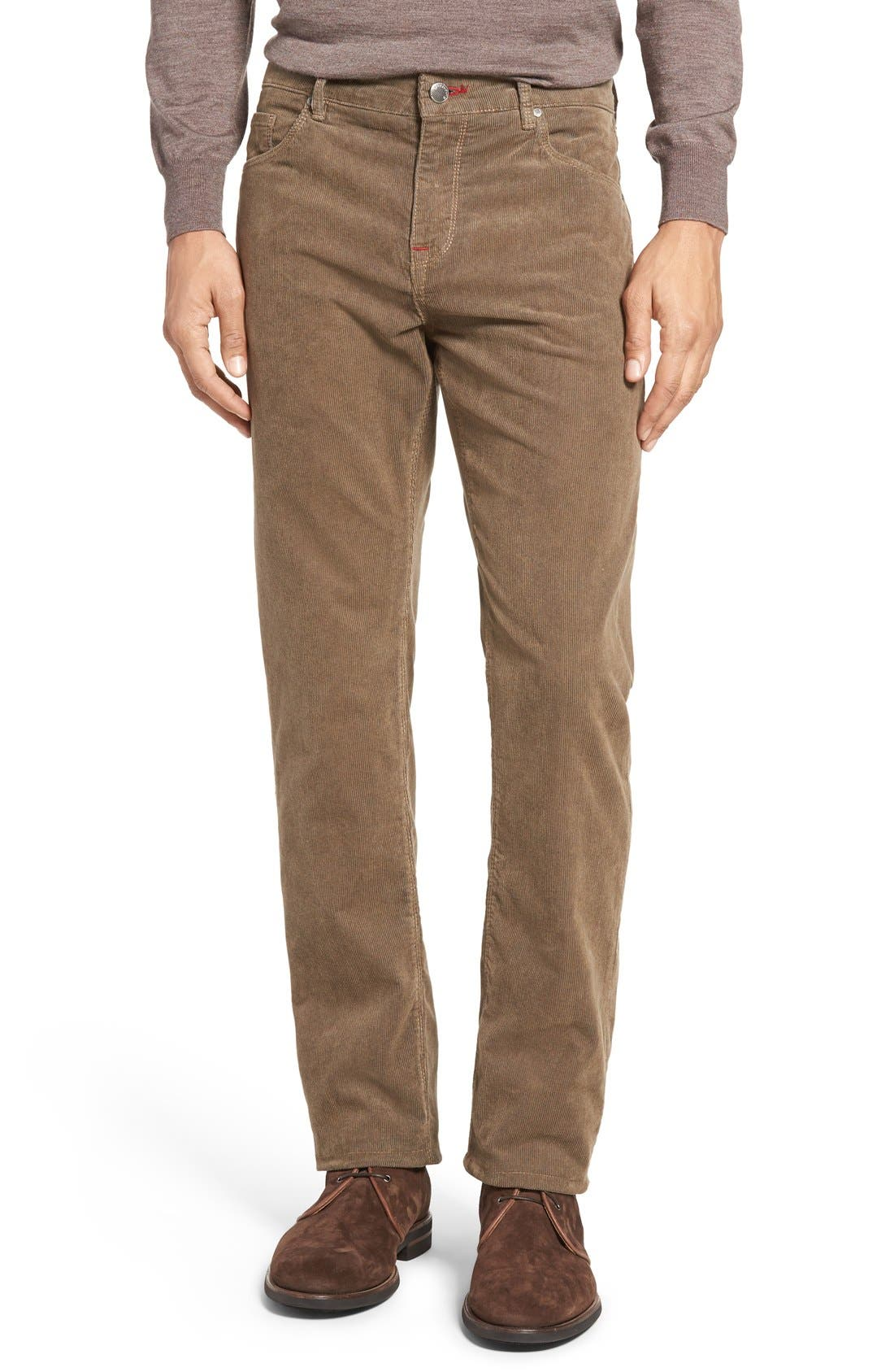 Bugatchi Slim Fit Corduroy Pants