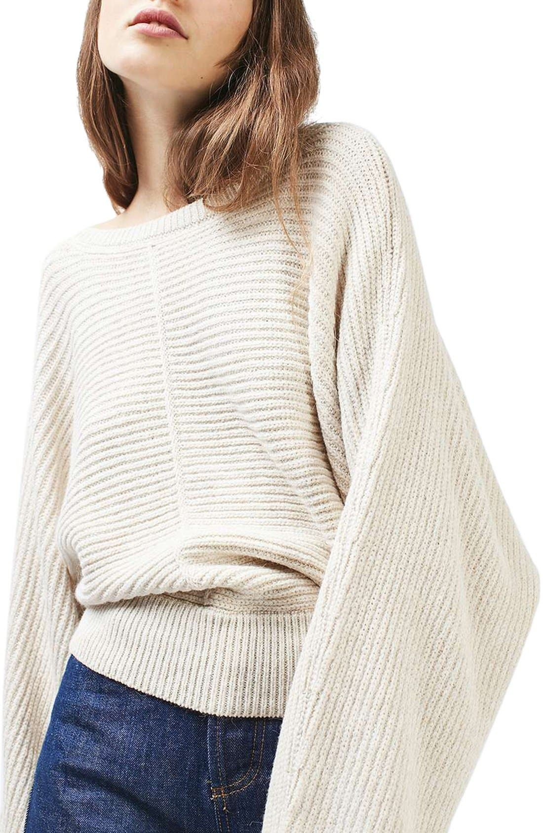 Alternate Image 1 Selected - Topshop Kimono Sleeve Sweater