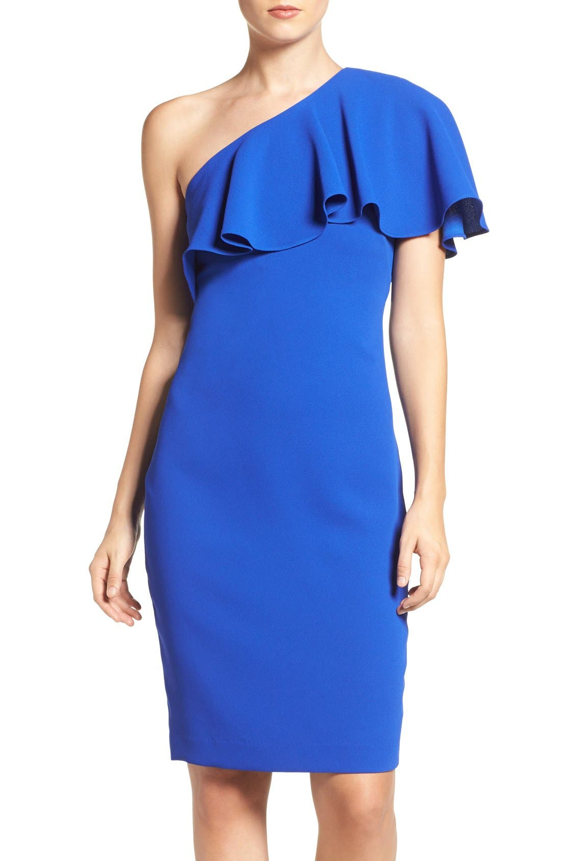 Vince Camuto One Shoulder Dress Regular Amp Petite Nordstrom