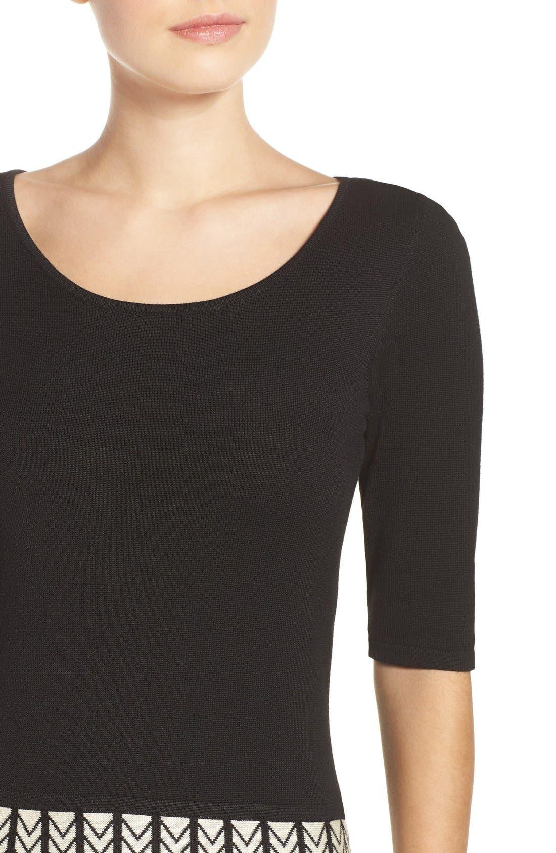 Alternate Image 5  - Gabby Skye Fit & Flare Sweater Dress
