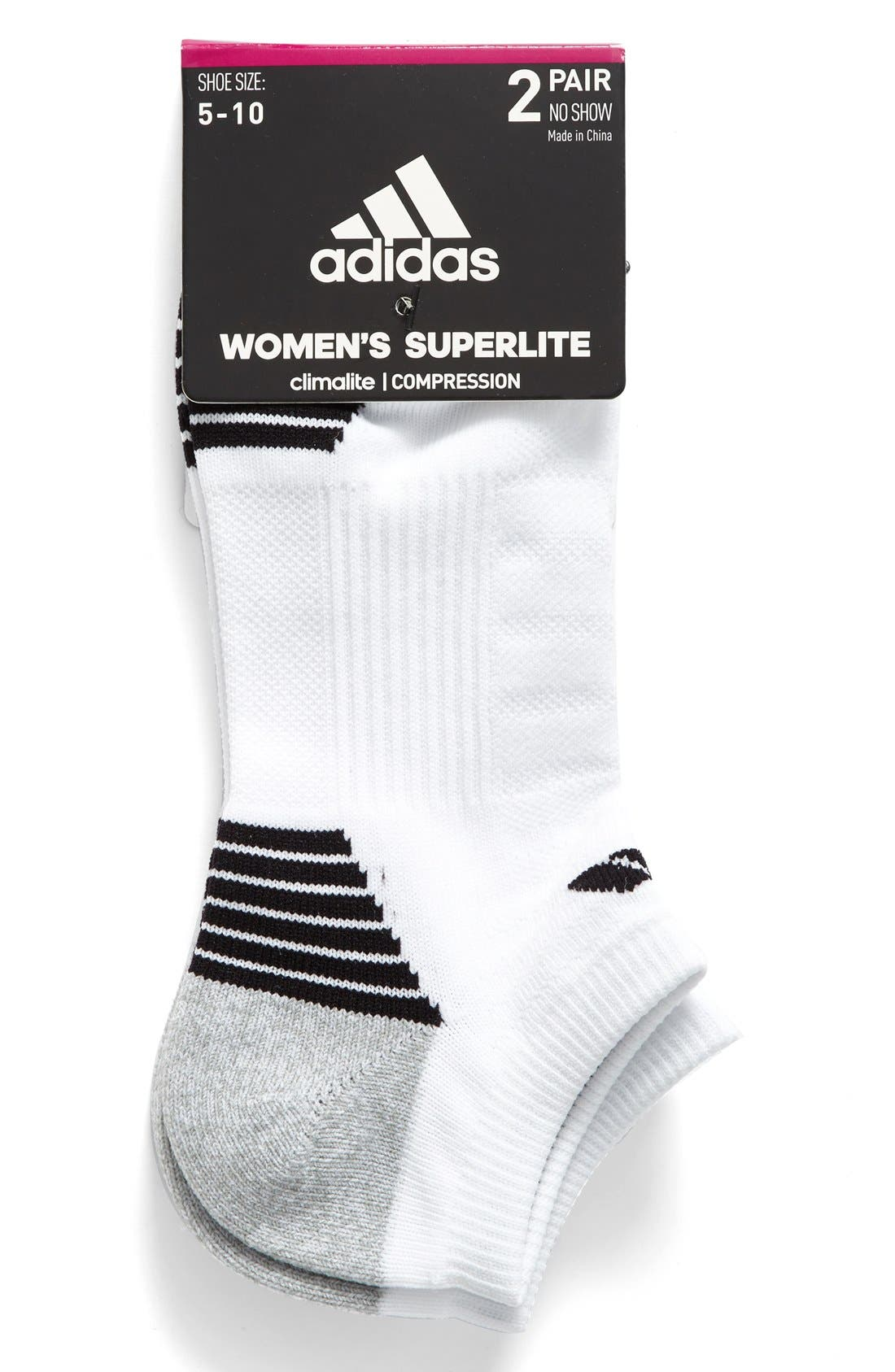 Alternate Image 2  - adidas 2-Pack Superlite Speed No-Show Socks