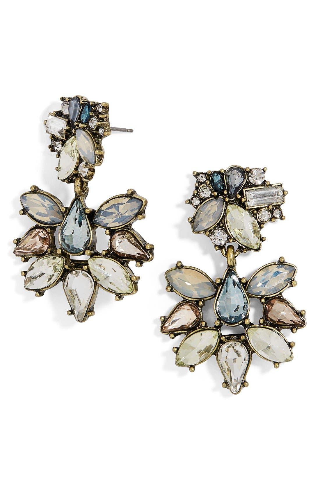 Alternate Image 1 Selected - BaubleBar Eirini Crystal Drop Earrings