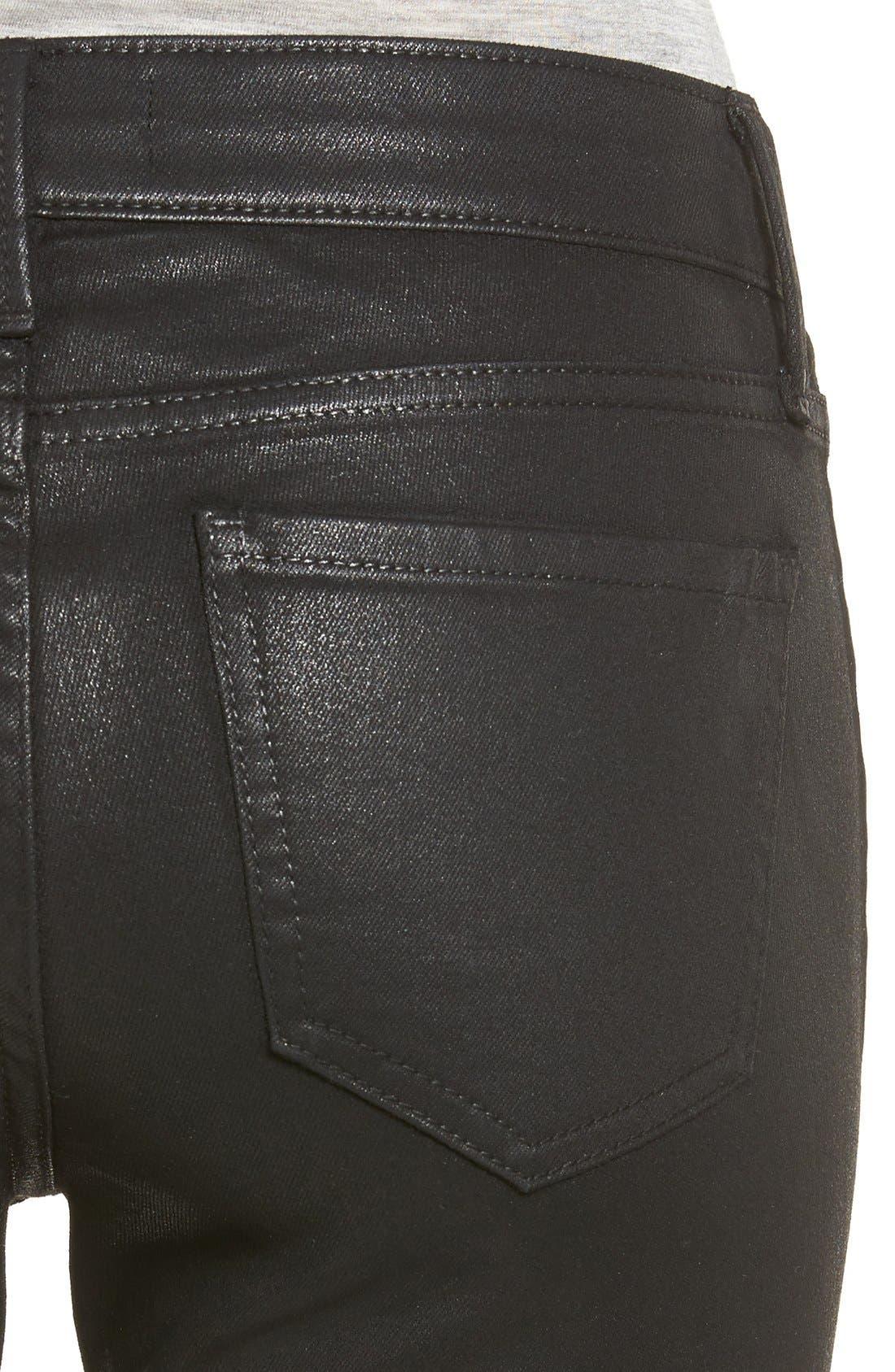 Alternate Image 4  - Trouvé Coated Skinny Jeans