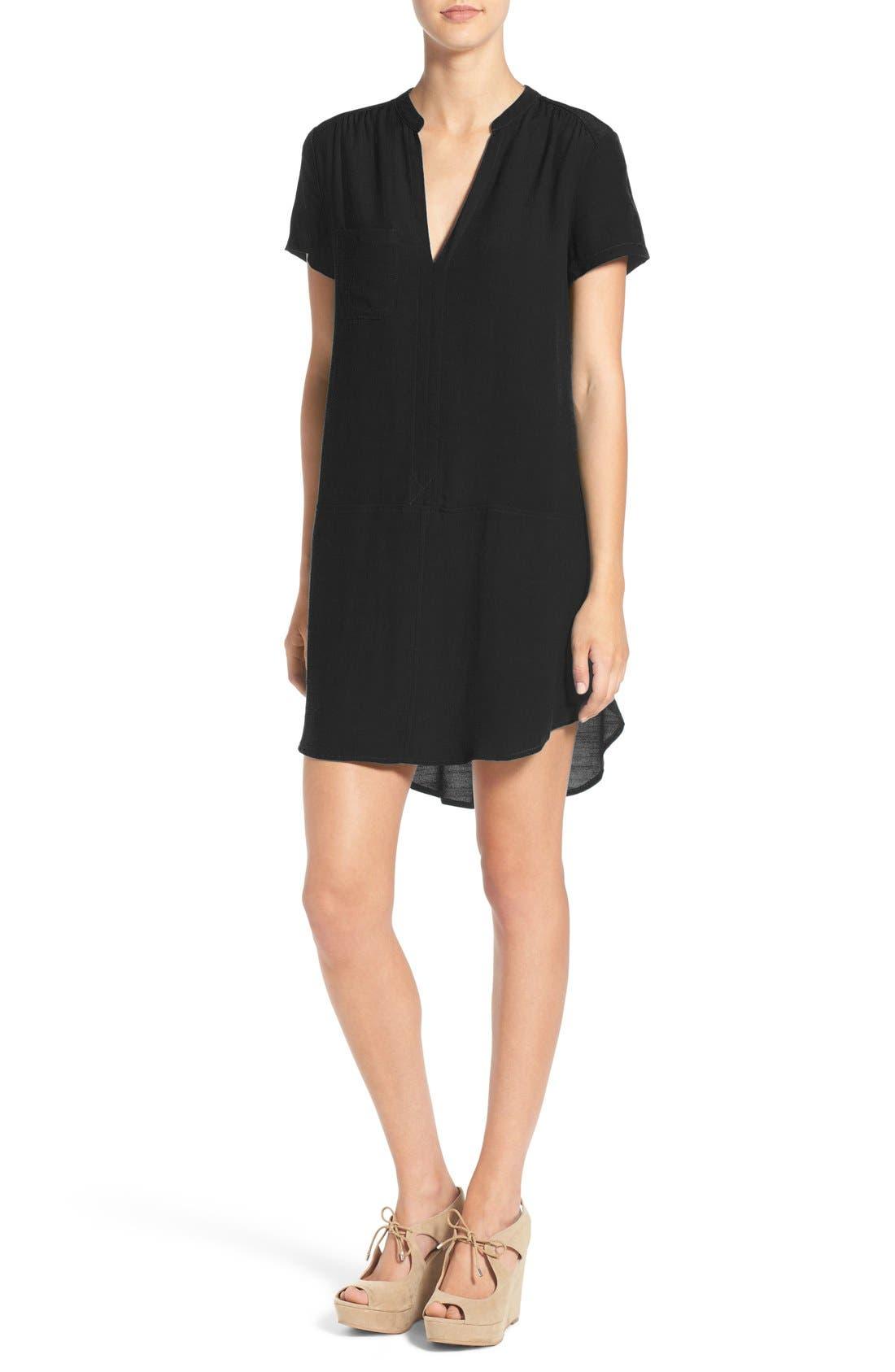 Alternate Image 1 Selected - Lush Split Neck Shift Dress