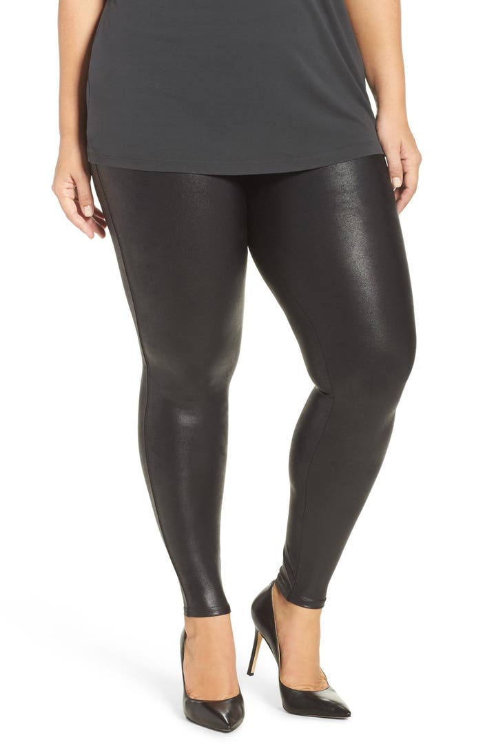 Spanx 174 Faux Leather Leggings Plus Size Nordstrom