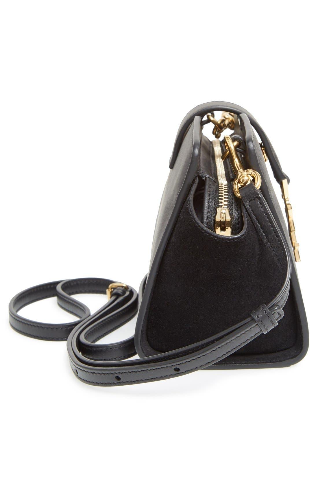 Alternate Image 5  - Saint Laurent Toy Cabas Leather Crossbody Bag