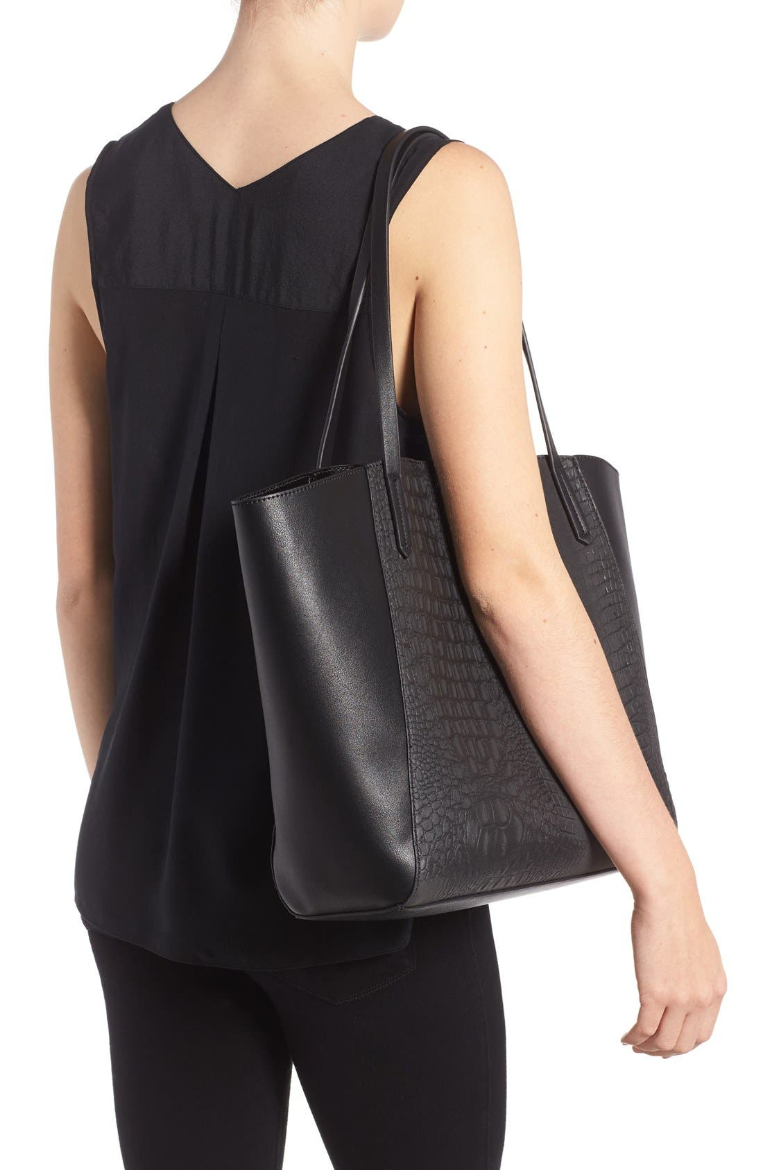 Alternate Image 2  - BP. Embossed Faux Leather Tote
