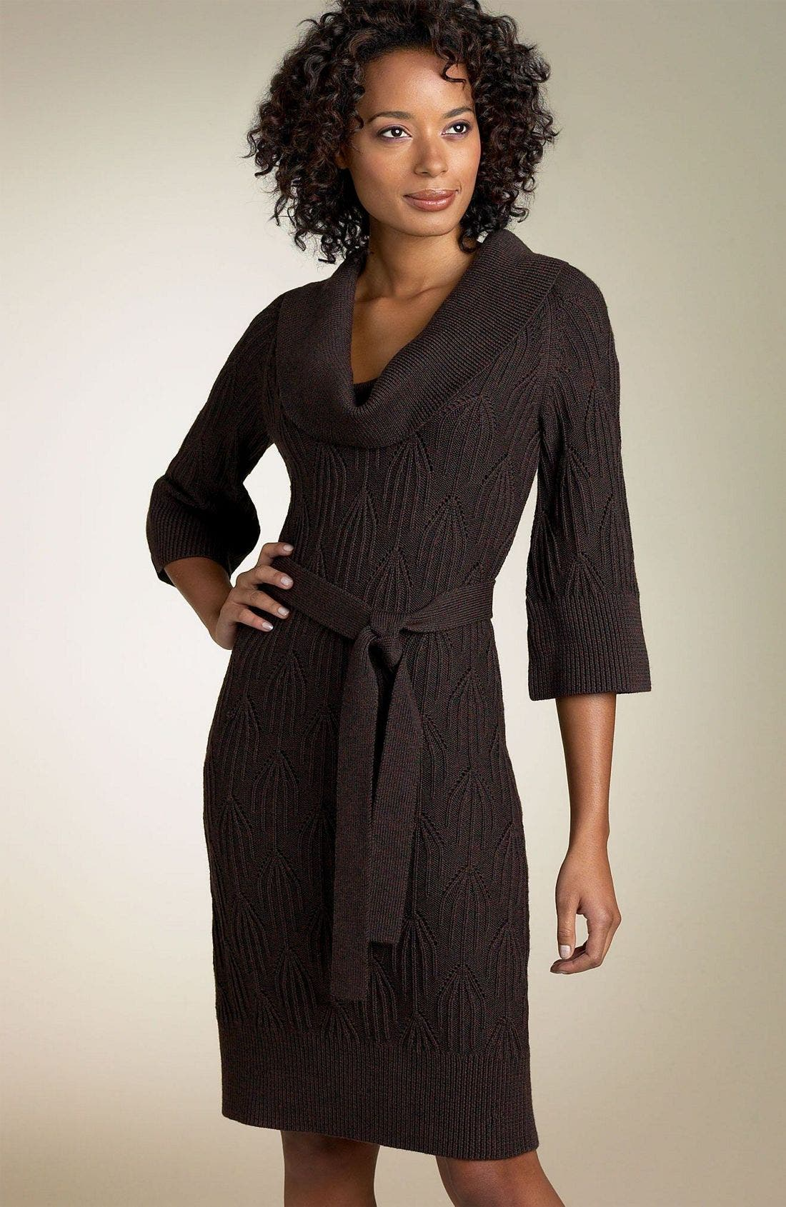 Alternate Image 1 Selected - Laundry by Design Belted Sweater Dress