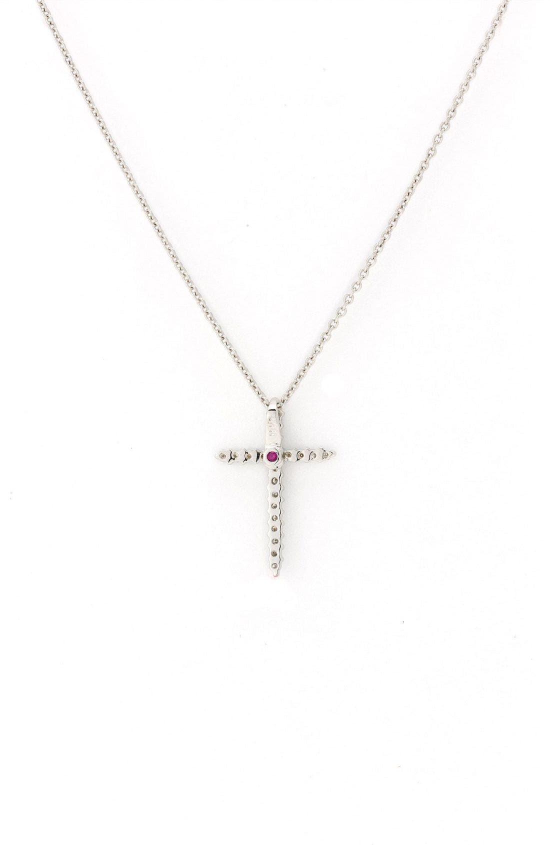 Alternate Image 2  - Roberto Coin Diamond Cross Pendant Necklace