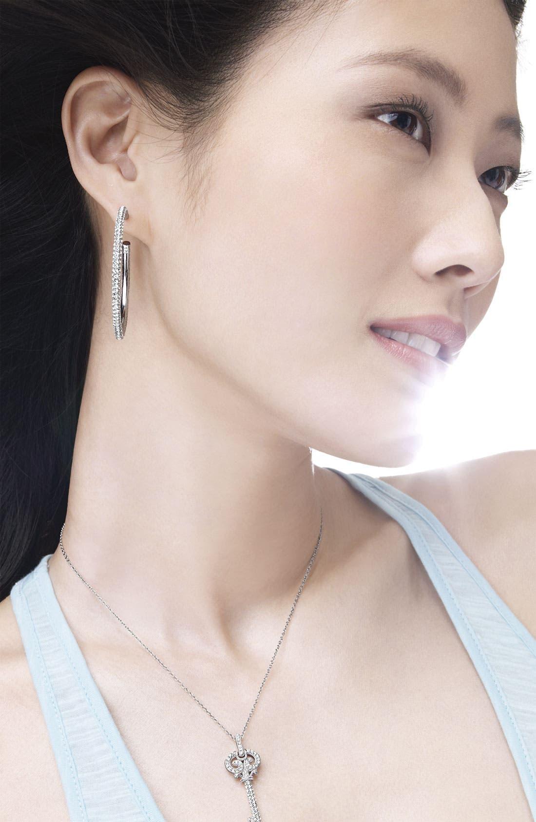 Alternate Image 5  - Nadri Large Pavé Crystal Hoop Earrings