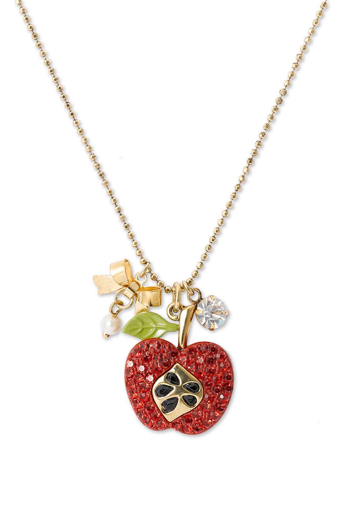 Alternate Image 1 Selected - Betsey Johnson 'Red Apple' Charm Necklace