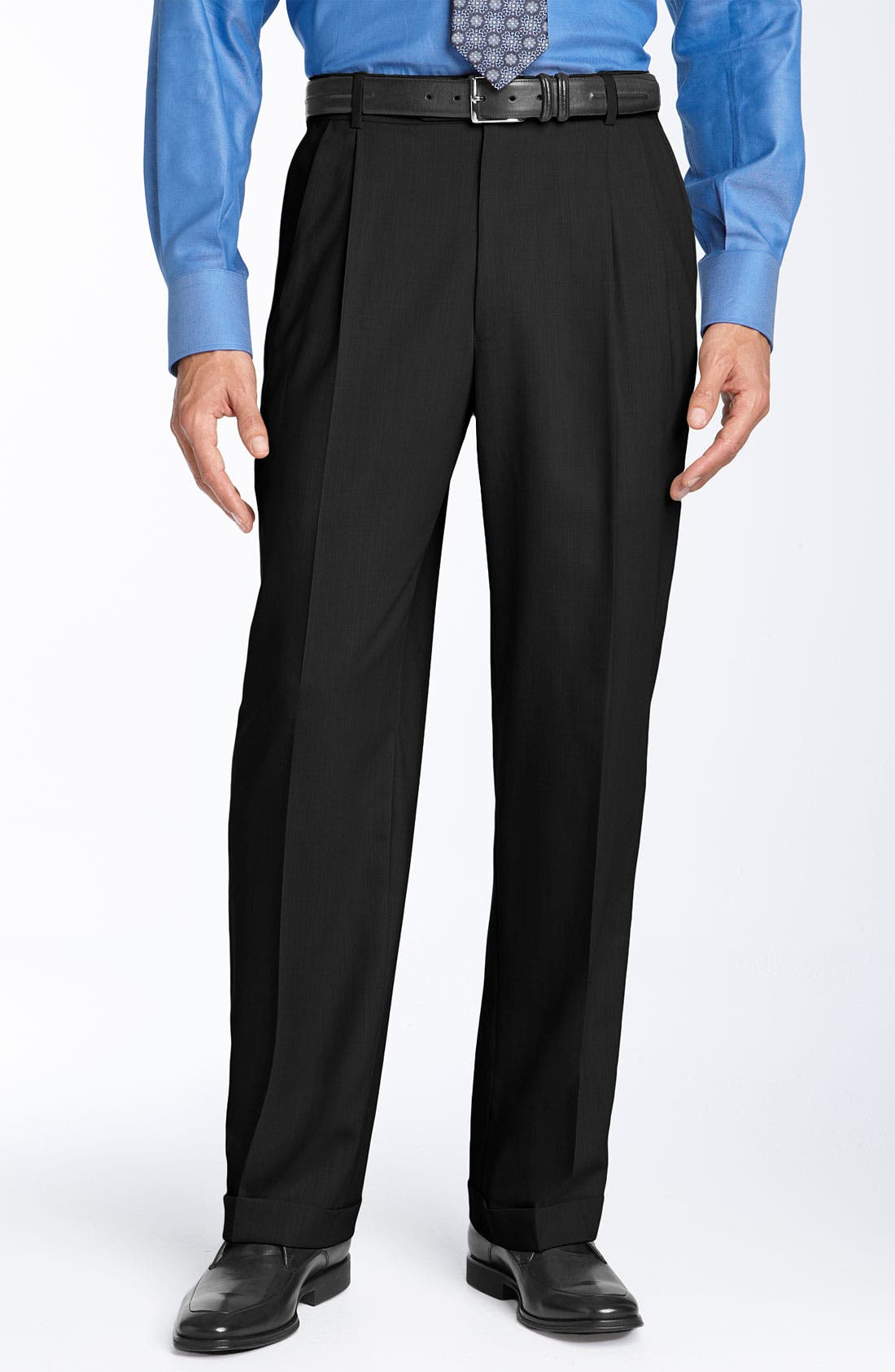 Main Image - Ballin Double Reverse Pleated Wool Twill Trousers