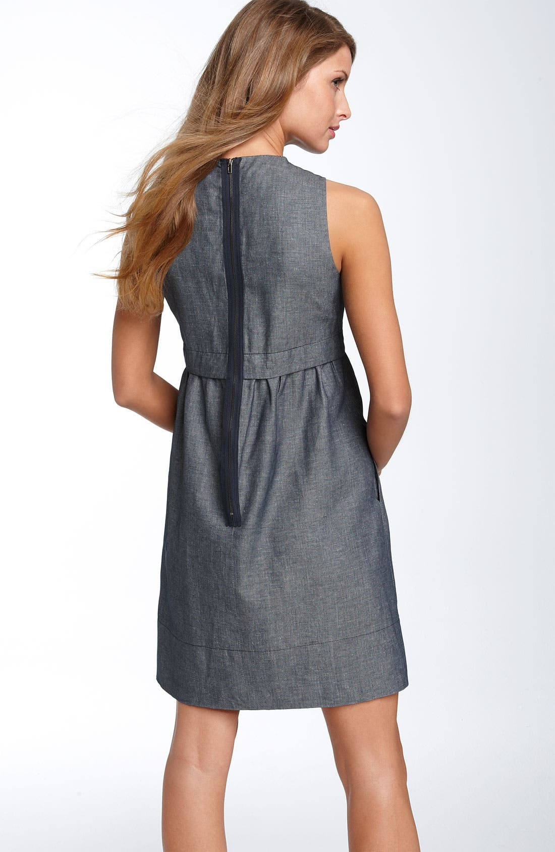 Alternate Image 2  - Donna Morgan Necklace Chambray Dress