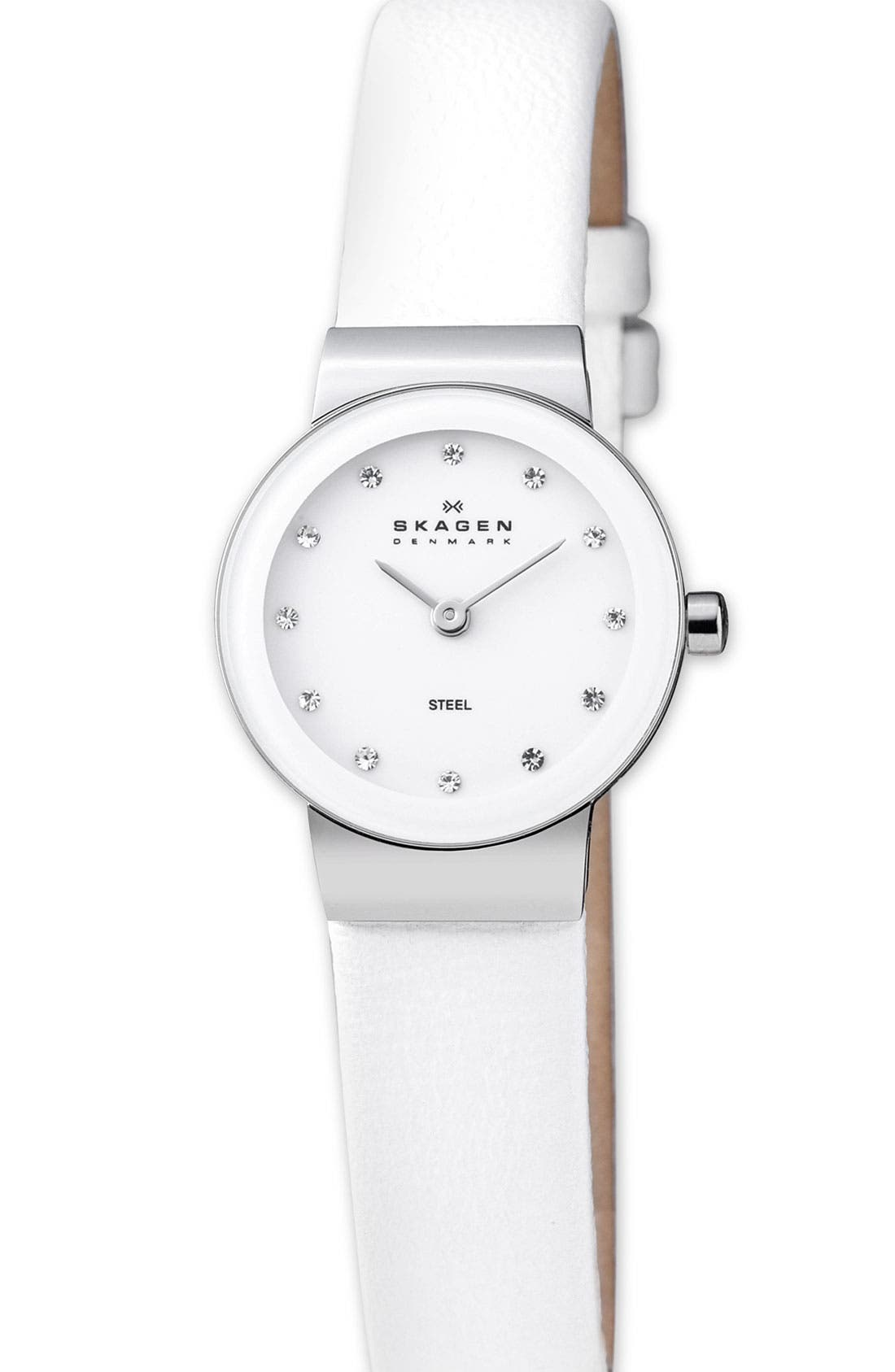 Alternate Image 1 Selected - Skagen Round Crystal Watch, 22mm