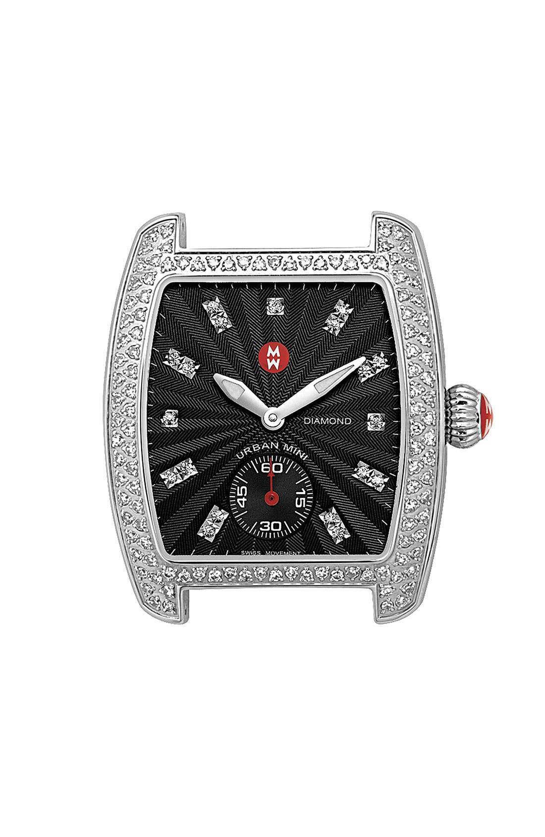 Alternate Image 1 Selected - MICHELE 'Urban Mini Diamond' Black Dial Watch Case