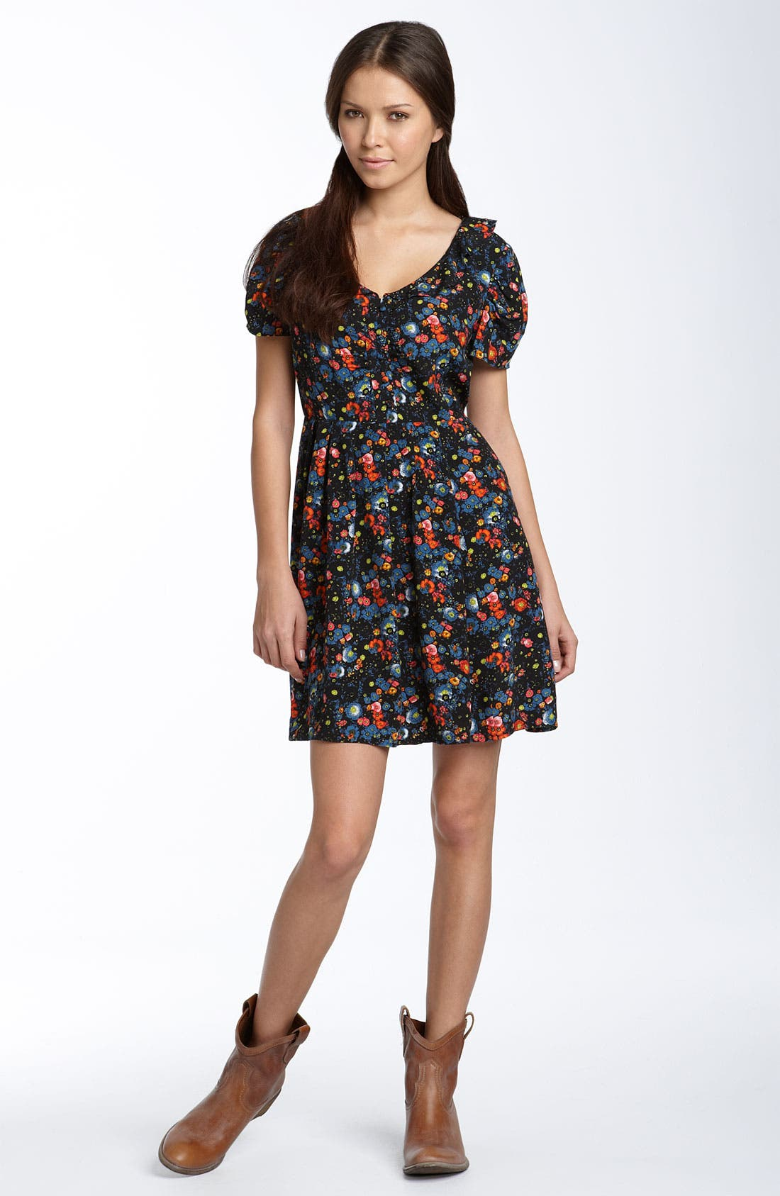 Alternate Image 1 Selected - Hinge® 'Girly 50s' Floral Printed Dress